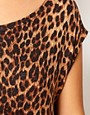 Image 3 ofRiver Island Animal Print Knitted T-Shirt