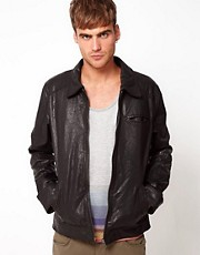 Code Leather Jacket Harrington