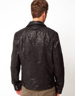 Image 2 ofCode Leather Jacket Harrington