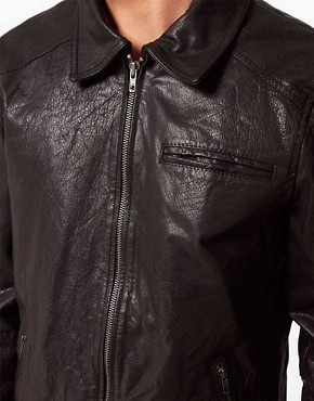 Image 3 ofCode Leather Jacket Harrington