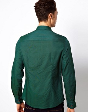 Image 2 ofASOS Oxford Shirt With Overdye