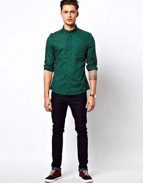Image 4 ofASOS Oxford Shirt With Overdye