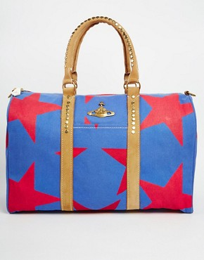 Vivienne Westwood Anglomania Africa Star Print Duffle Bag