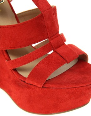 Image 2 ofRiver Island Erika Cut Out Platform Wedges