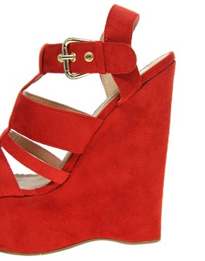 Image 3 ofRiver Island Erika Cut Out Platform Wedges
