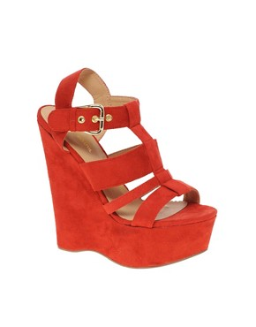 Image 1 ofRiver Island Erika Cut Out Platform Wedges