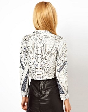 Image 2 ofASOS PETITE Exclusive Embellished Trophy Jacket