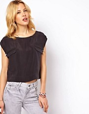Mango Crop Top With Zip Pockets