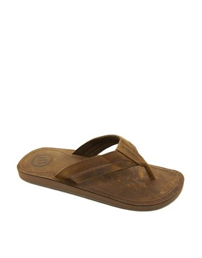 Image 1 ofAnimal Whitley Leather Flip Flops