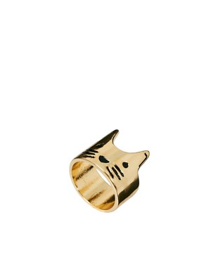 Image 1 ofASOS Cat Face Ring