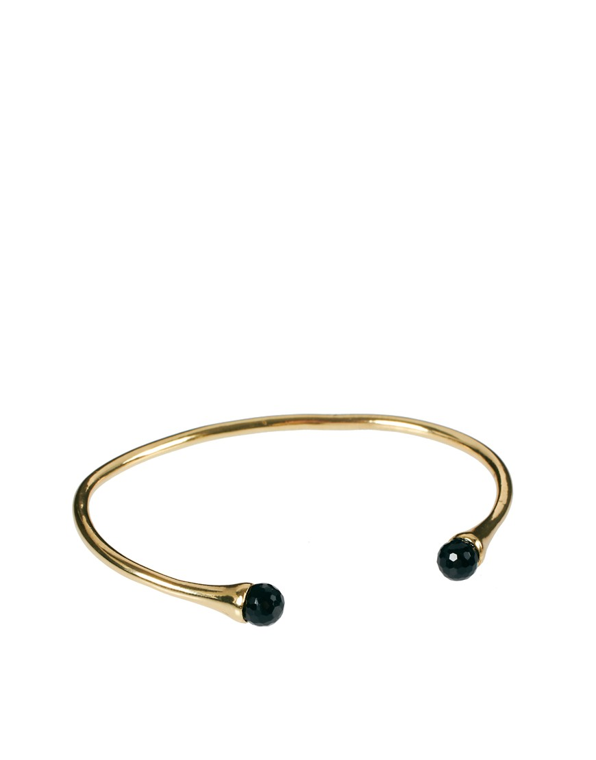 Image 1 of ASOS Stone Open Bangle