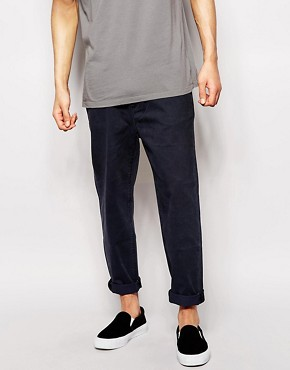 Cheap Monday Chinos Worker Straight Fit Washed Navy