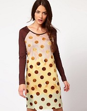 Paul by Paul Smith Spotty Tee Dress with Raglan Sleeve Detail