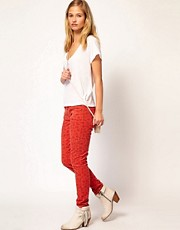 Current/ Elliot Ankle Skinny Jean In Poppy Ditsy Blossom Print