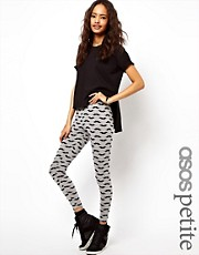 ASOS PETITE Exclusive Moustache Leggings