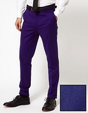 ASOS Skinny Fit Tuxedo Suit Trouser in Polywool