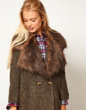 Image 1 ofASOS Faux Fur Lapel Collar