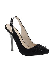 KG Culprit Black Studded Slingback Court Shoes