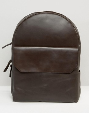 Royal RepubliQ Leather Backpack In Brown