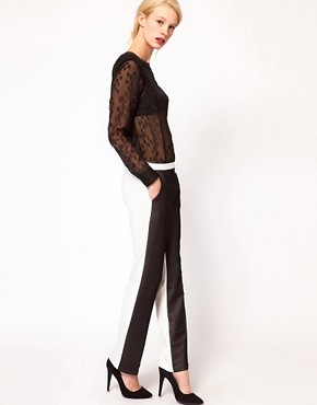 Image 1 ofASOS Trousers With Sheer Front Panel