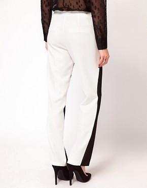 Image 2 ofASOS Trousers With Sheer Front Panel