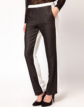 Image 4 ofASOS Trousers With Sheer Front Panel
