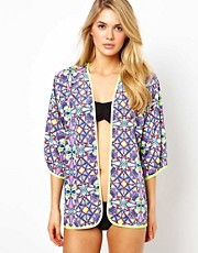 ASOS Rossetti Print Bomber Beach Jacket