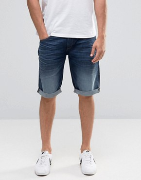 Celio Denim Shorts in Mid Blue Wash