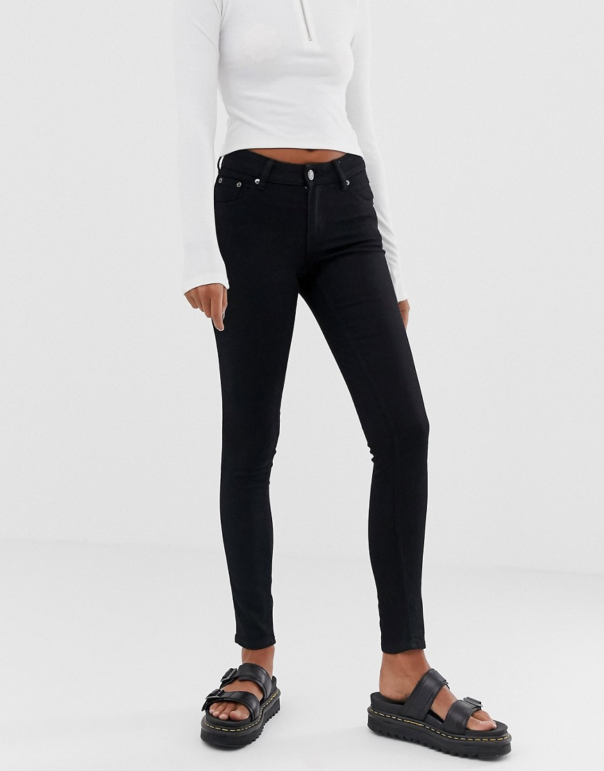 Cheap Monday Low Rise Skin Skinny Jean - Pure black