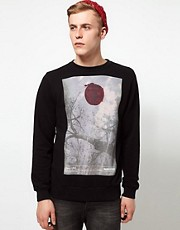 Supremebeing Crew Sweatshirt Iron Tree Photo Print