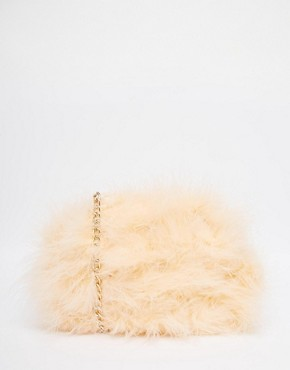 River Island Apricot Fluffy A Crossbody Bag