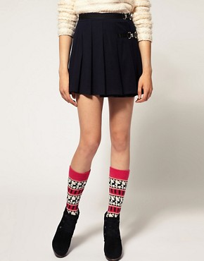 Image 1 ofASOS Deer Fairisle Knee High Socks