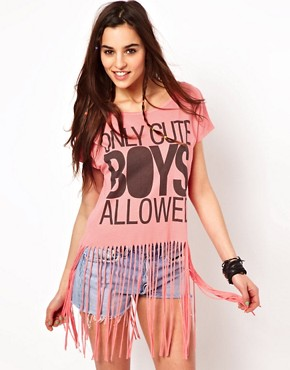 Image 1 ofClub L Cute Boys Fringe T-Shirt