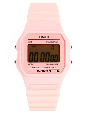 Image 1 ofTimex 80 Pastel Pink Buckle Clasp Watch
