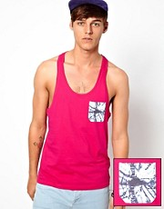 ASOS Vest With Tie Dye Print Pocket