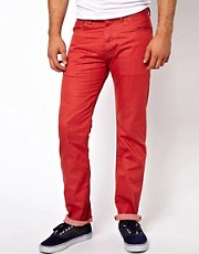 Levis Jeans 501 Straight Fit Mineral Red