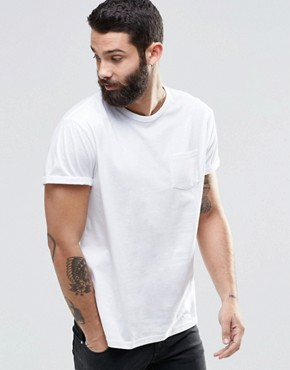 River Island Roll Sleeve Pocket T-Shirt