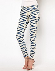Denim &amp; Supply By Ralph Lauren Printed Skinny Jeans