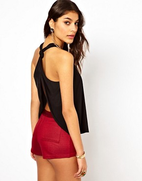 Image 1 ofASOS Vest With Open Back And Knot Detail