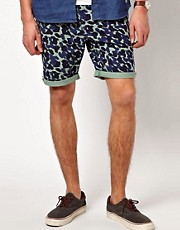 Suit  Chino-Shorts mit Tarnmuster