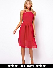 Oasis Cut Out Midi Dress