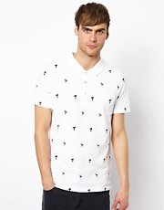 Native Youth Polo Shirt With Flamingo Print