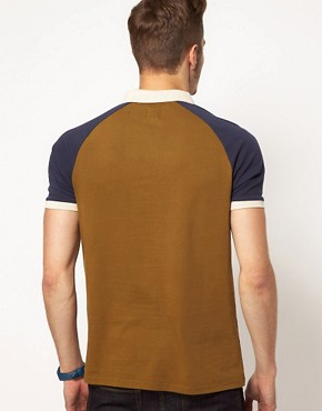 Image 2 ofASOS Polo With Contrast Raglan Sleeves