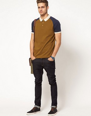Image 4 ofASOS Polo With Contrast Raglan Sleeves