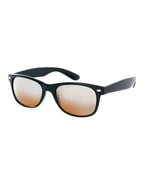 Image 1 ofASOS Wayfarer with Mirror Lens