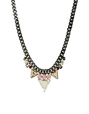 ASOS Jewel Spike Triangle Necklace
