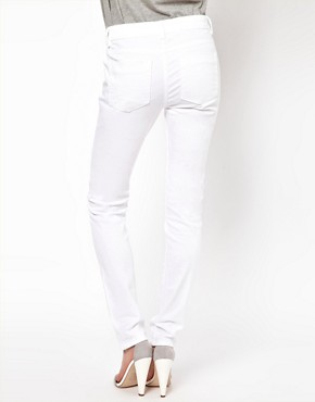Image 2 of ASOS Elgin Supersoft Skinny Jeans in White