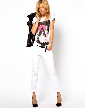 Image 4 of ASOS Elgin Supersoft Skinny Jeans in White