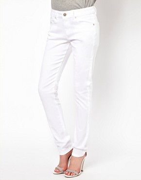 Image 1 of ASOS Elgin Supersoft Skinny Jeans in White