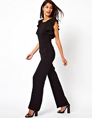 ASOS Jumpsuit With Ruffle Back